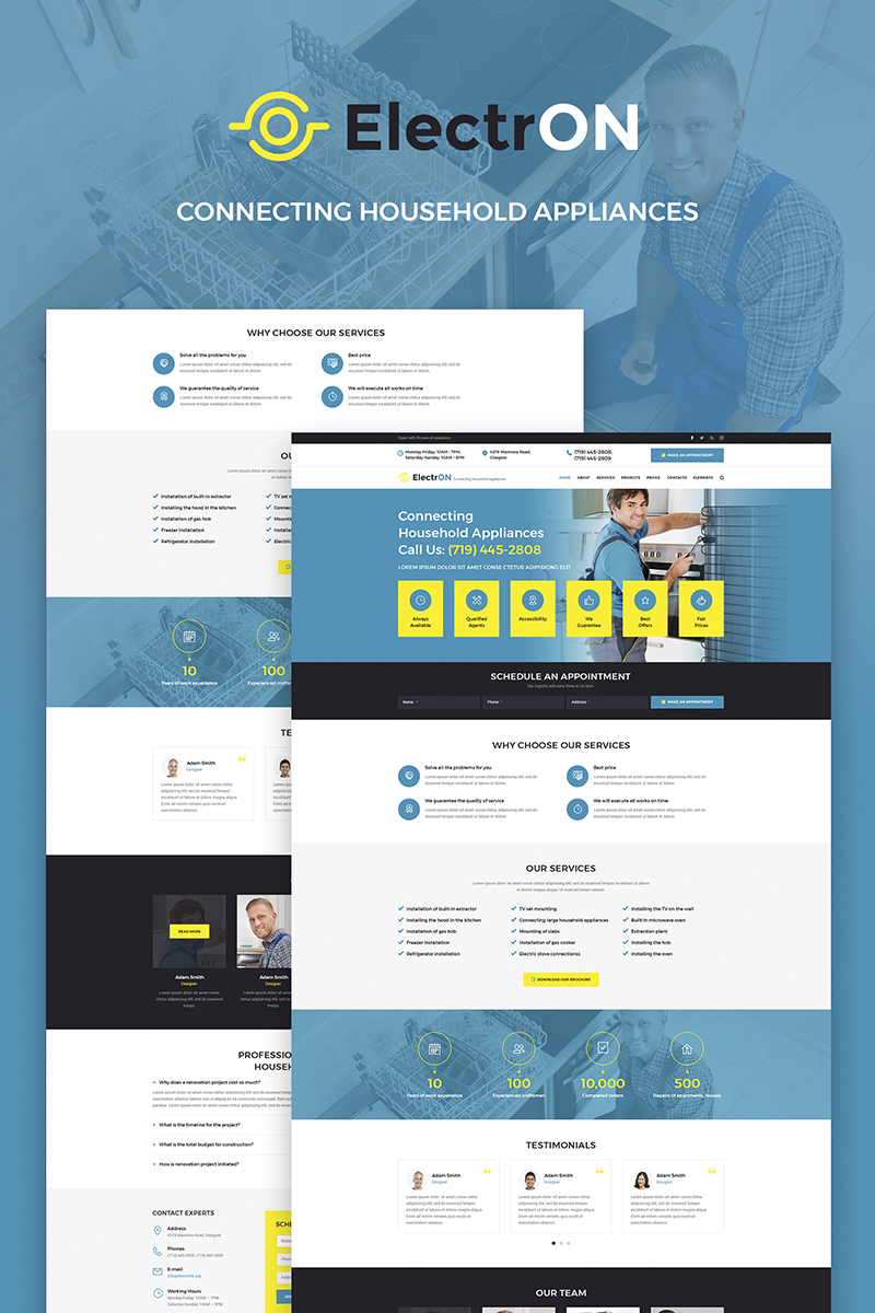 ElectrON - Maintenance Services Company Tema WordPress №66180