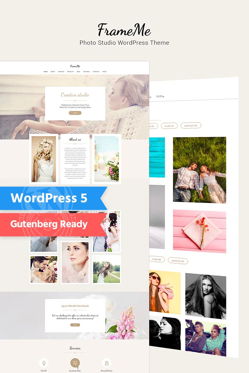 """FrameMe - Photography Studio"" - WordPress шаблон №66179"
