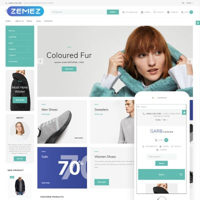 Joomla clothing store template