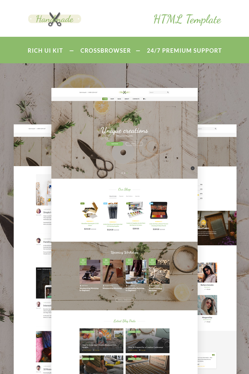 Handmade - Art Supplies Website Template
