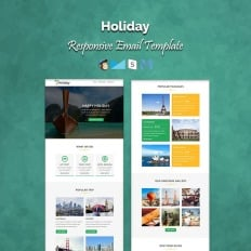 travel agency responsive newsletter template 54550