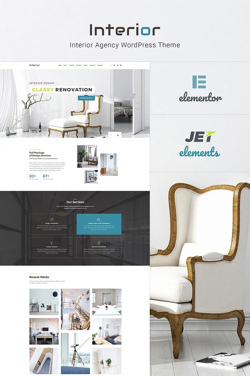"""Interior - Interior Design Company Responsive"" Responsive WordPress thema №66130 - screenshot"