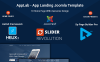 "Joomla Vorlage namens ""Applab - App Landing"" Großer Screenshot"