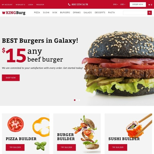 KingBurg - Burger - OpenCart Template based on Bootstrap