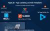 """Modello Joomla Responsive #66101 """"Applab - App Landing"""" Screenshot grande"""