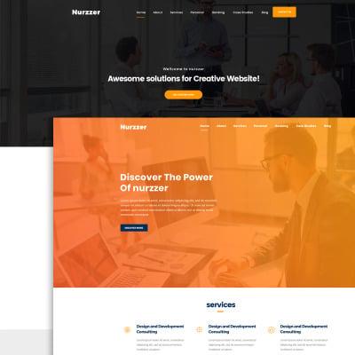 "Modello PSD #66158 ""NURZZER - Multipurpose, Consulting,Finance, Business Agency"" #66158"