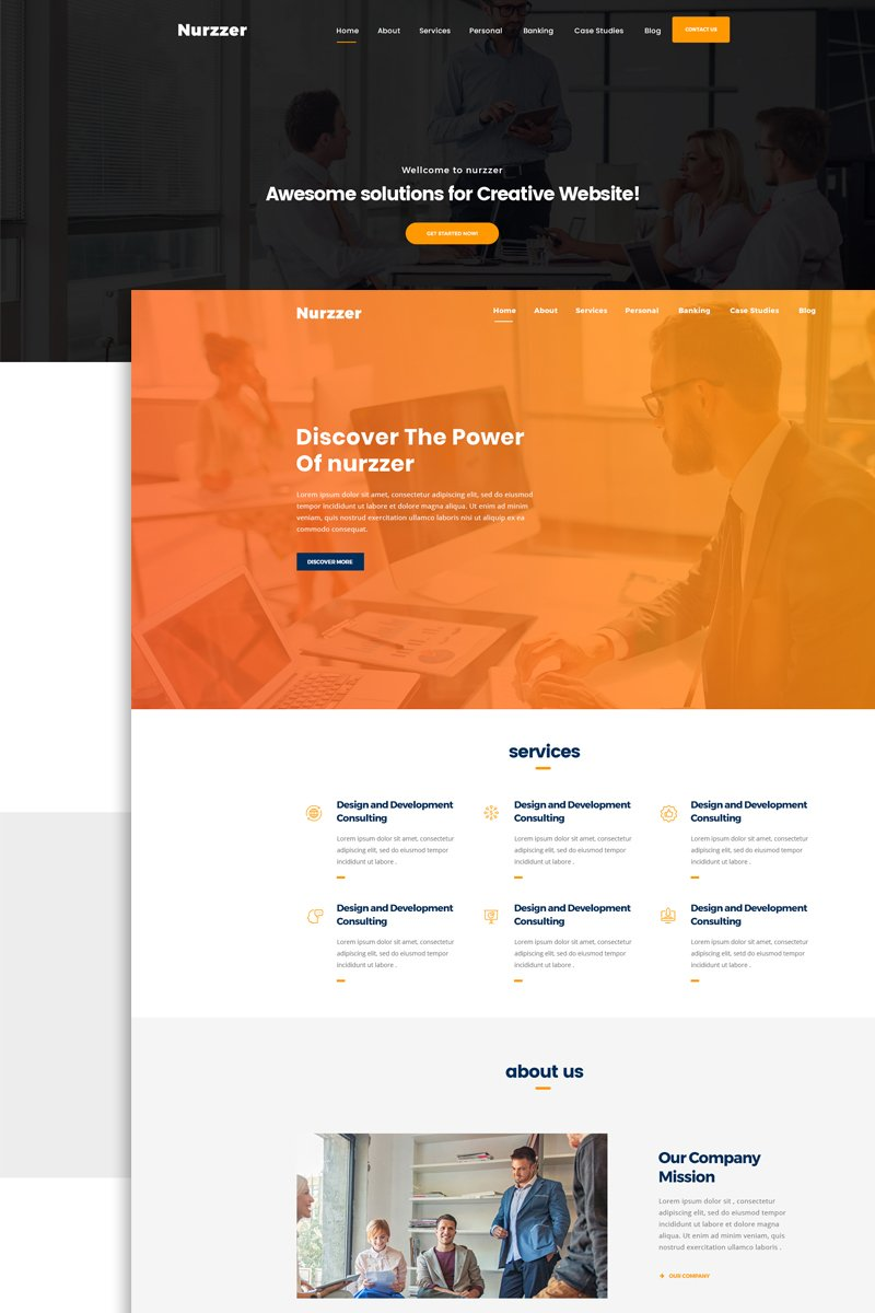 NURZZER - Multipurpose, Consulting,Finance, Business Agency PSD-mall #66158