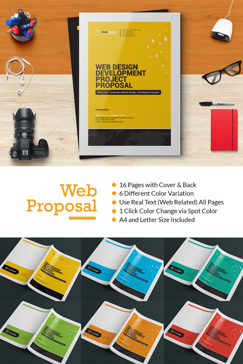 "Plantilla De Identidad Corporativa ""Web Proposal for Web Design and Development Agency"" #66132 - captura de pantalla"