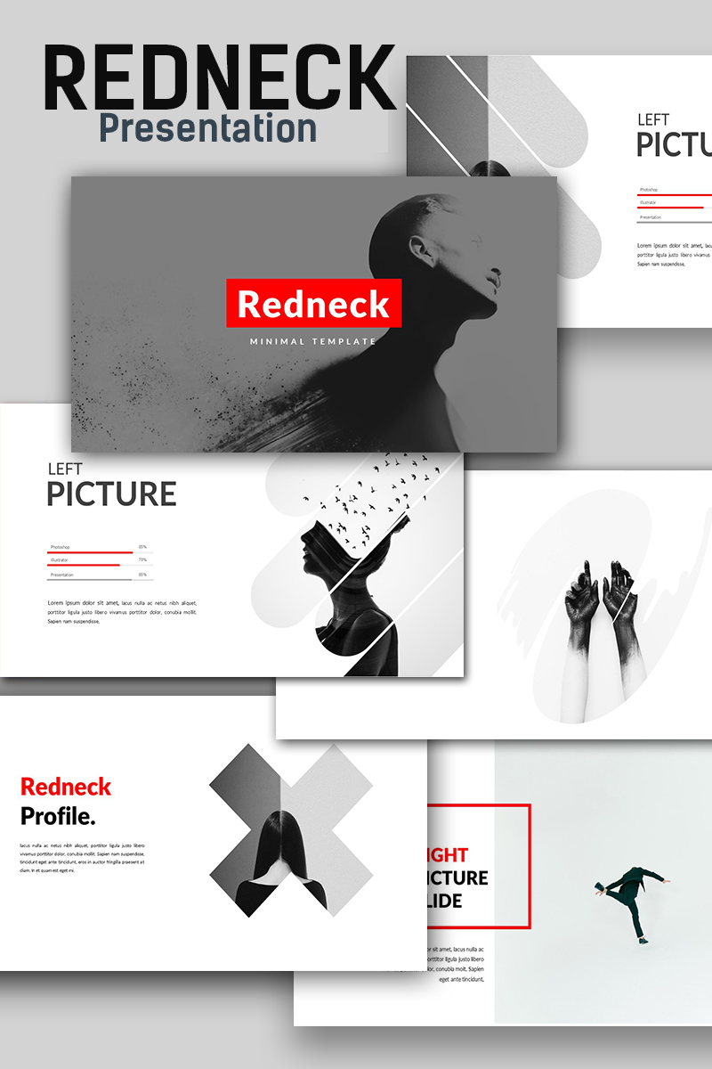 Redneck Creative Minimal PowerPoint Template - screenshot