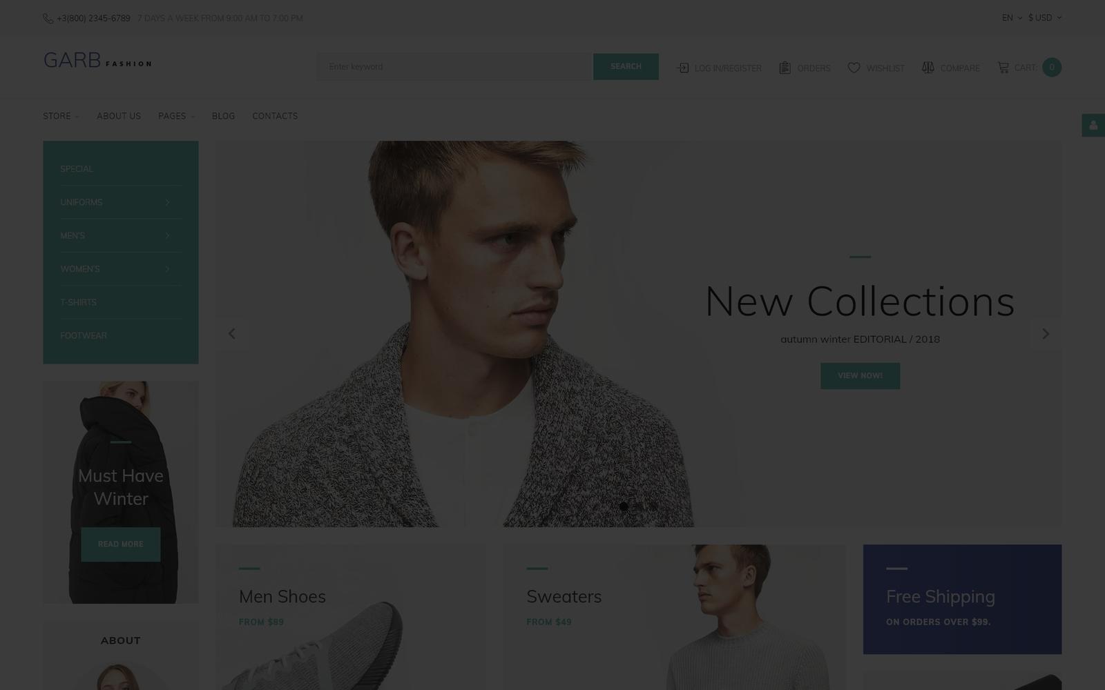 Responsywny szablon Joomla Garb Fashion - Fashion Store #66165