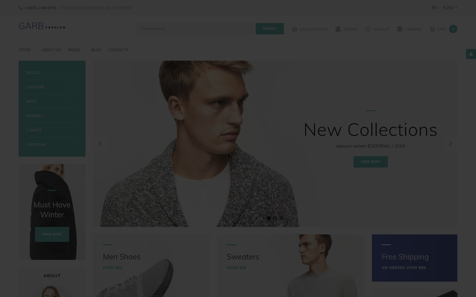 Reszponzív Garb Fashion - Fashion Store Joomla sablon 66165