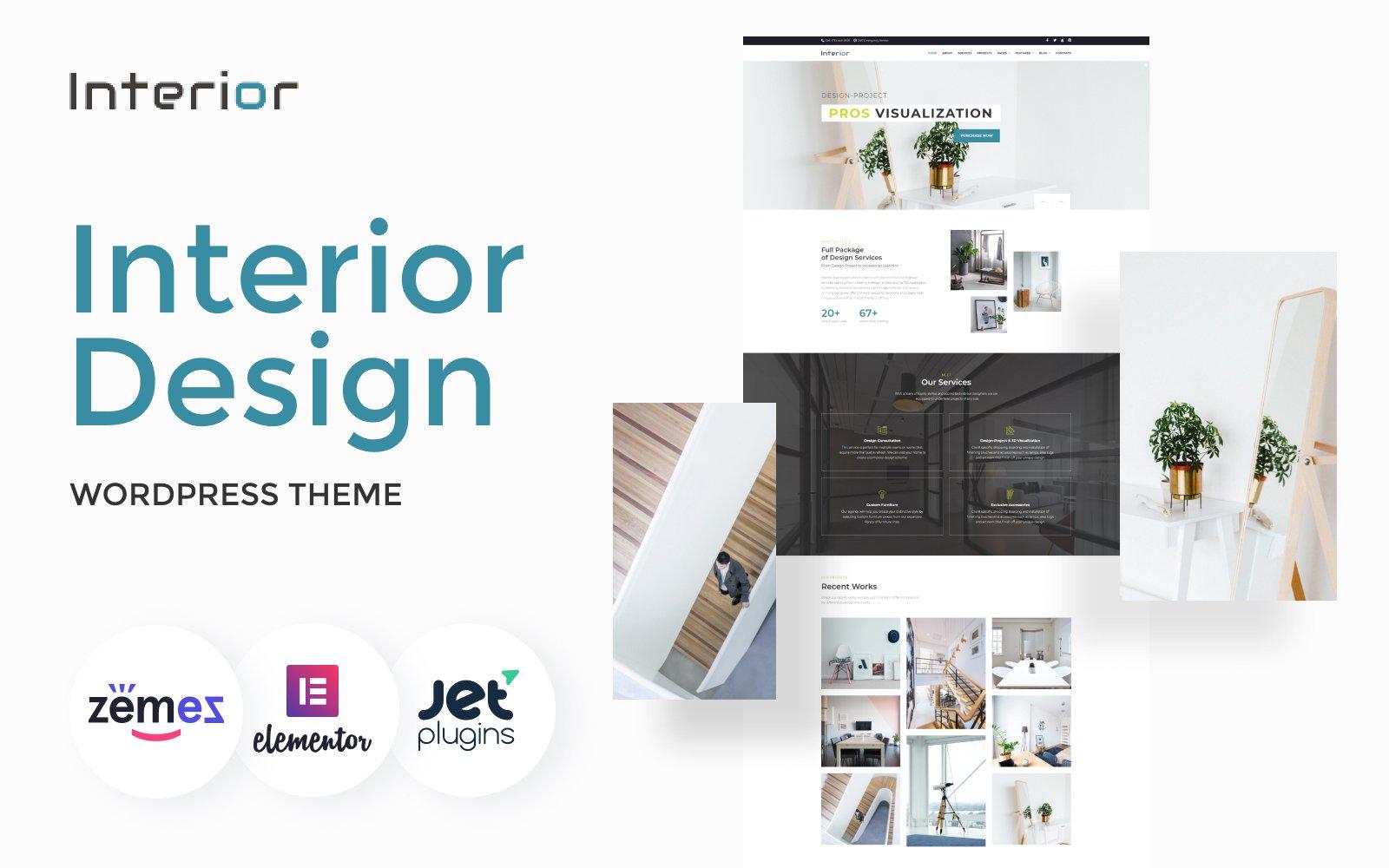Reszponzív Interior - Interior Design Company Responsive WordPress sablon 66130