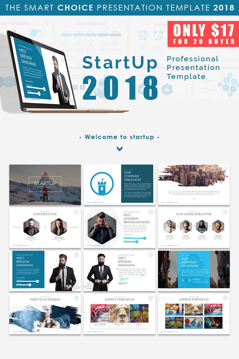 """""""Start Up 2018 - Presentation"""" modèle PowerPoint  #66169"""