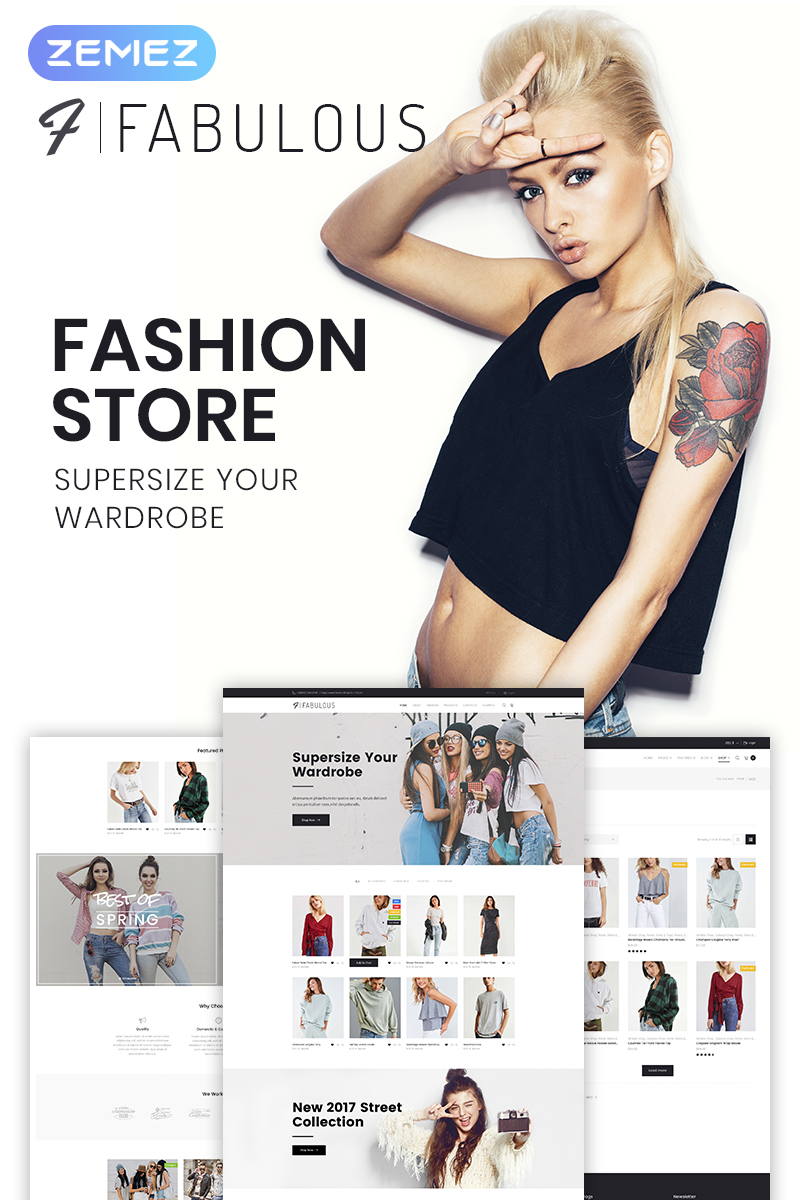 "Tema WooCommerce ""Fabulous - Fashion Store"" #66159 - captura de pantalla"