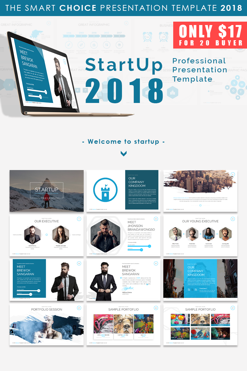 "Template PowerPoint #66169 ""Start Up 2018 - Presentation"""