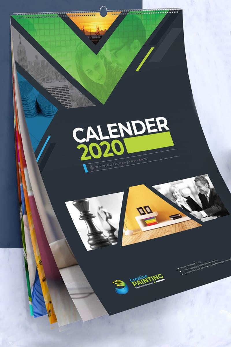 2019 Wall and Desk Calendar Design Corporate Identity Template - screenshot