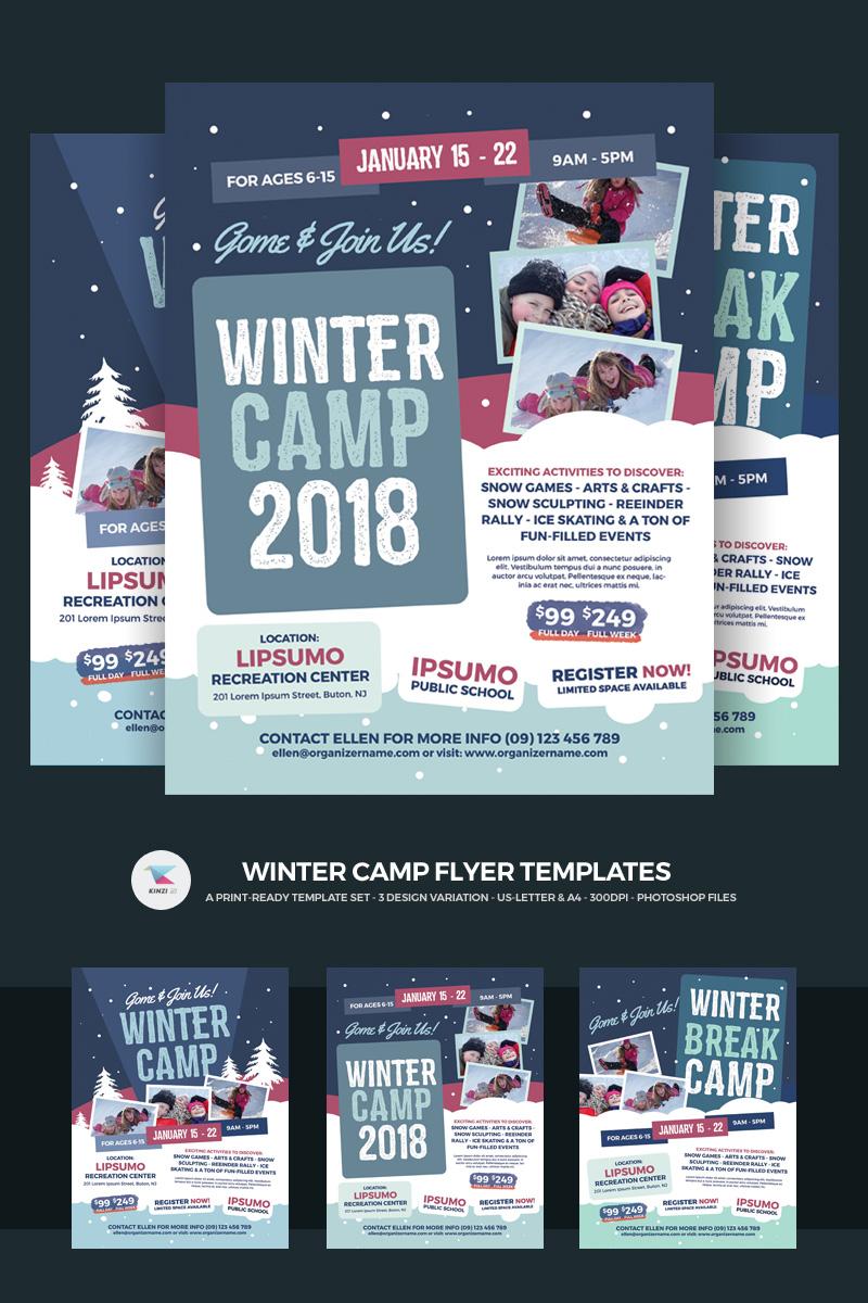 """""""Winter Camp Flyer"""" PSD Template №66168"""