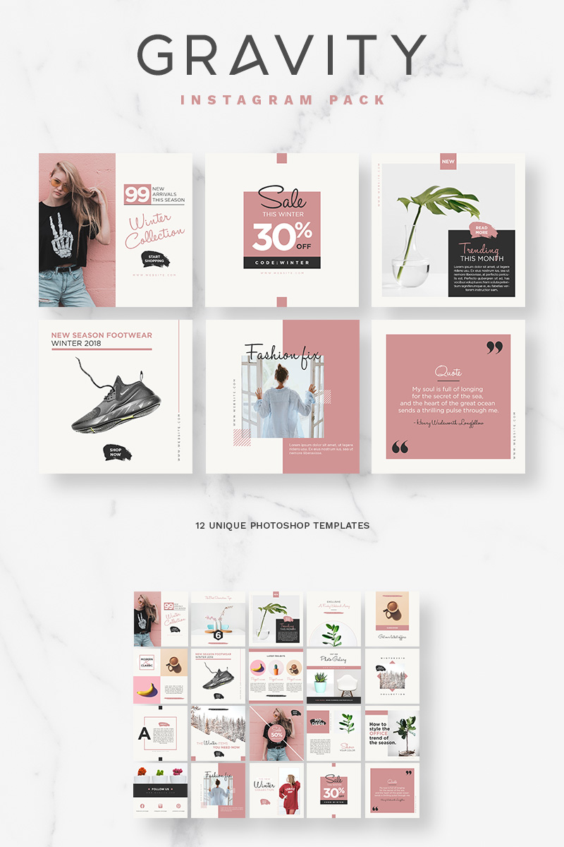 Website Template #66206 Blog Facebook Fashion Custom Website ...