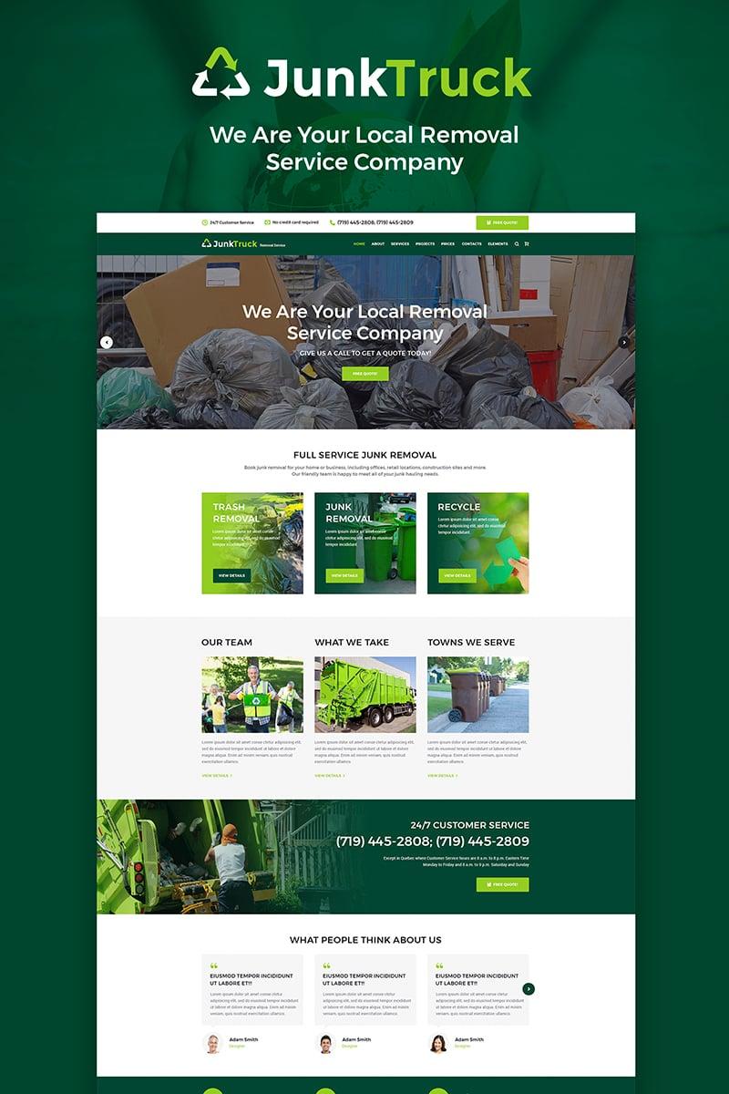 Website Design Template 66224 - rubbish waste dumpster trash service pickup responsive premium seo html testimonials woocommerce promotion blog