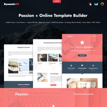 Preview image of Passion HTML Email + Online Builder
