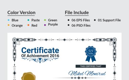 Web Design Certificate Template