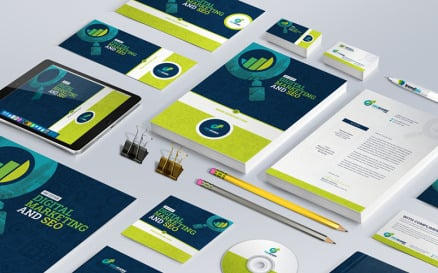 Branding Stationery Bundle for SEO and Digital Marketing Agency or Company Corporate Identity
