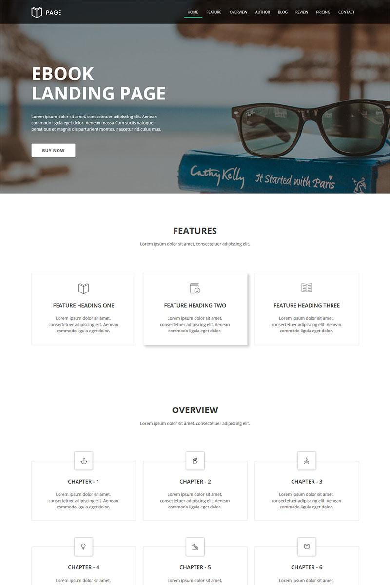 Website Design Template 66291 - template adobe landing page selling