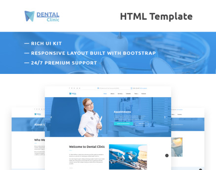Dental Clinic Responsive Website Template