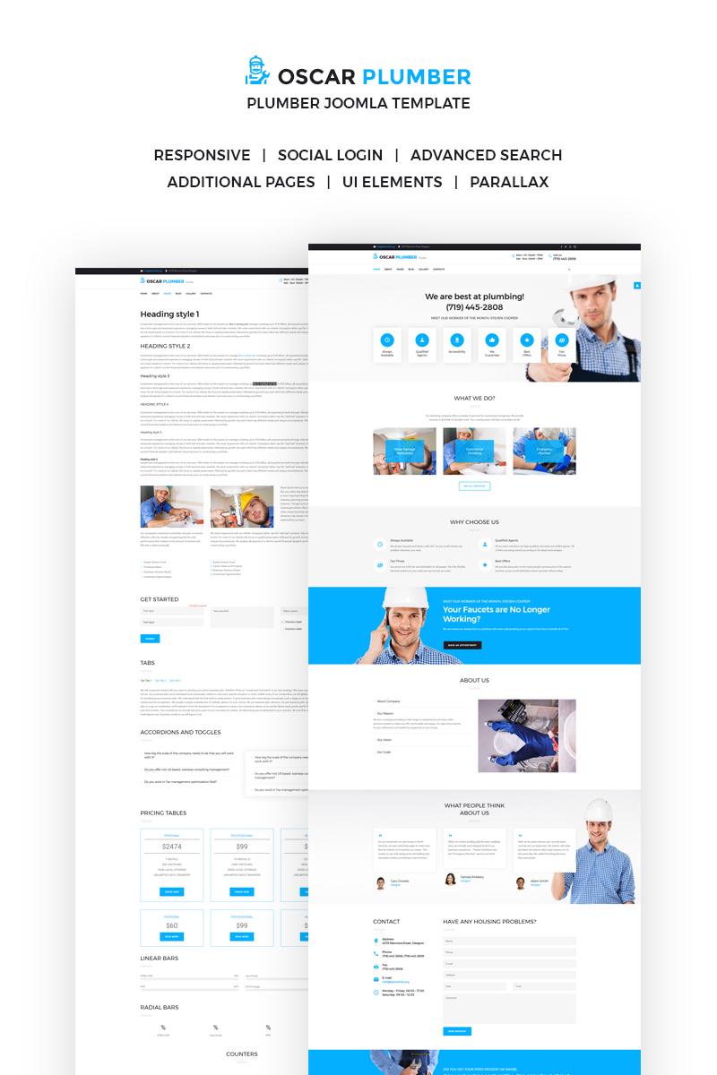Website Design Template 66299 - go services business plumber engineering handyman home