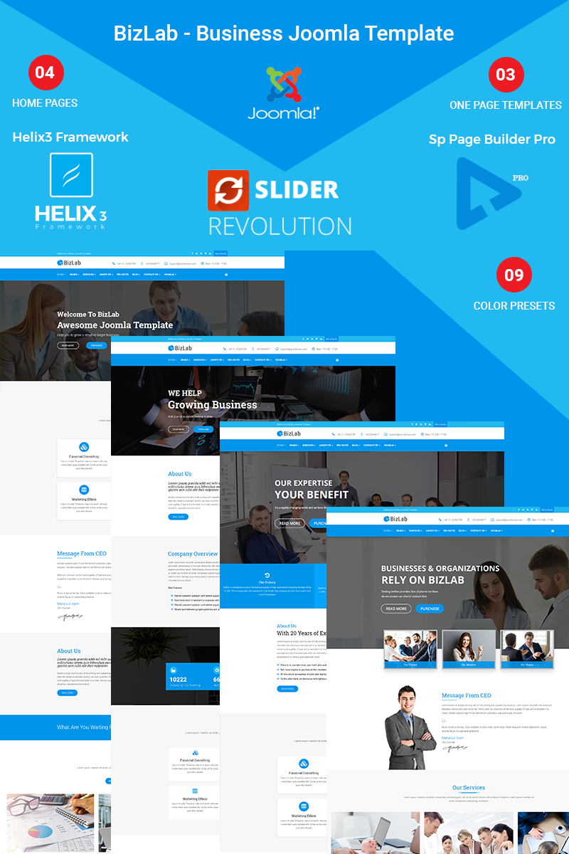 BizLab - Business Joomla Template