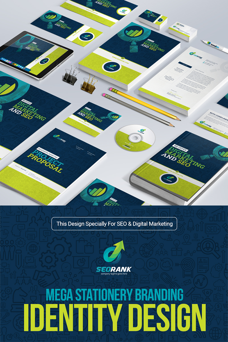 Branding Stationery Bundle for SEO and Digital Marketing Agency or Company Corporate Identity Template