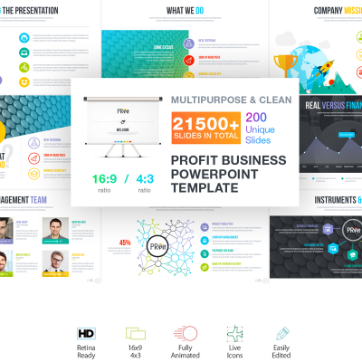 Business Plan Presentation Powerpoint Template 66234