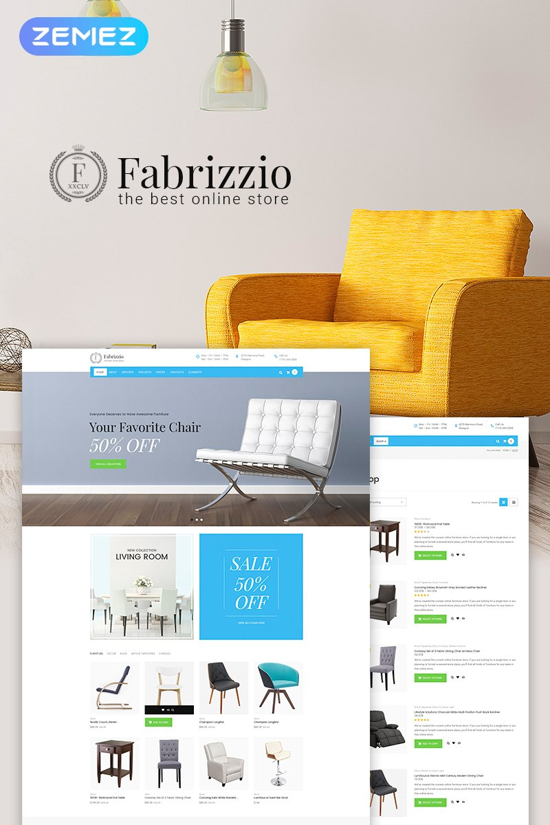 Fabrizzio - Furniture Store WooCommerce Theme