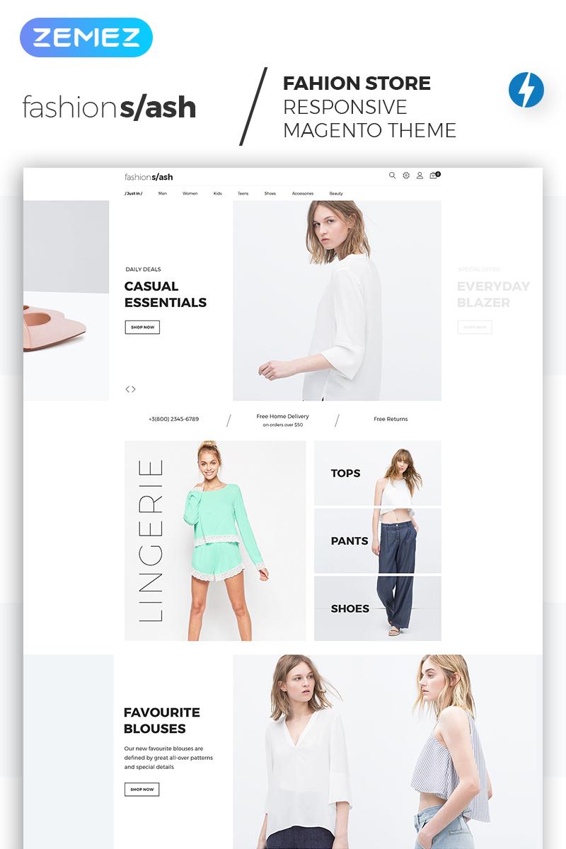 Fashion Slash - AMP Fashion Boutique Magento Theme - screenshot
