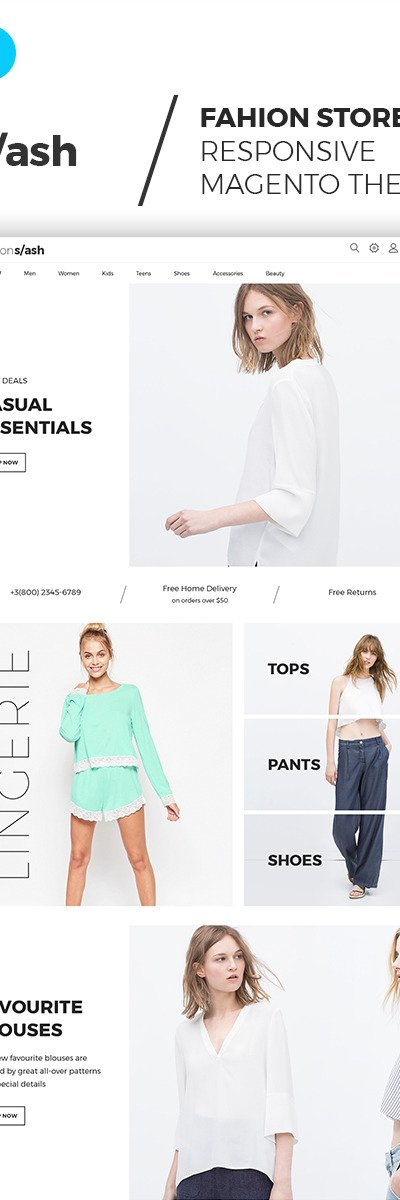 Fashion Slash - AMP Boutique Magento Theme