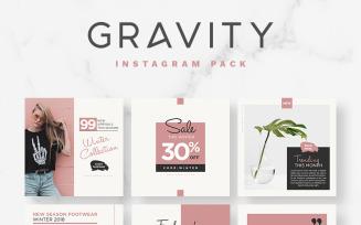 Gravity Instagram Pack Social Media Template