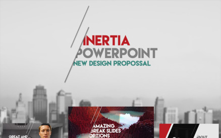 Inertia PowerPoint template PowerPoint Template
