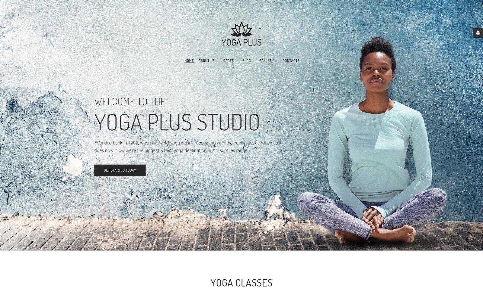 "Joomla Vorlage namens ""Yoga Plus - Yoga Center Minimal Well-Balanced"" #66220"