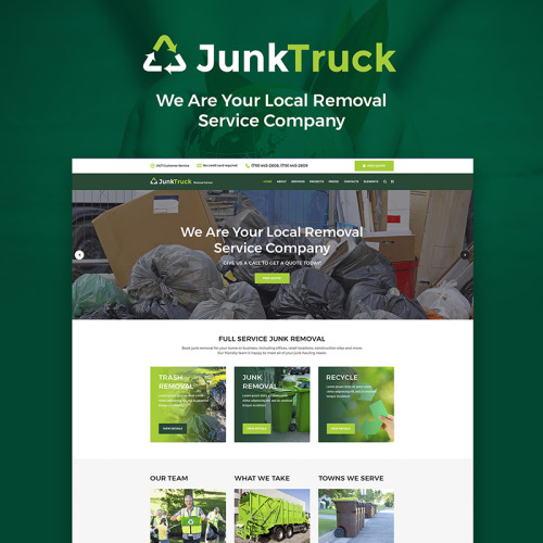 JunkTruck - Garbage Removal Service - HTML5 WordPress Template