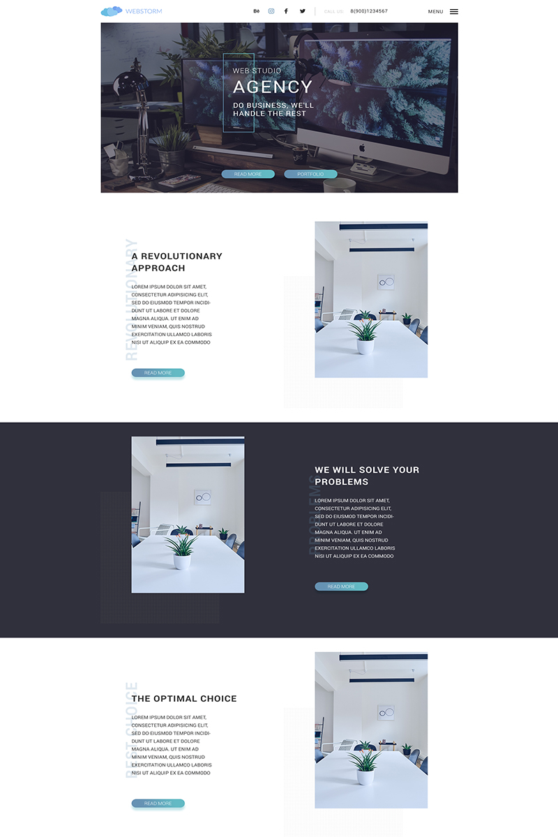 Landing page - Agency PSD Template