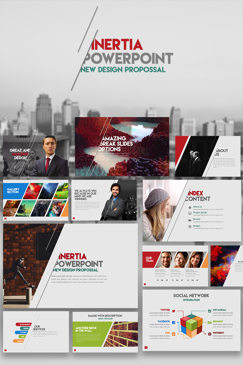 "Luxusní PowerPoint šablona ""Inertia"" #66255"