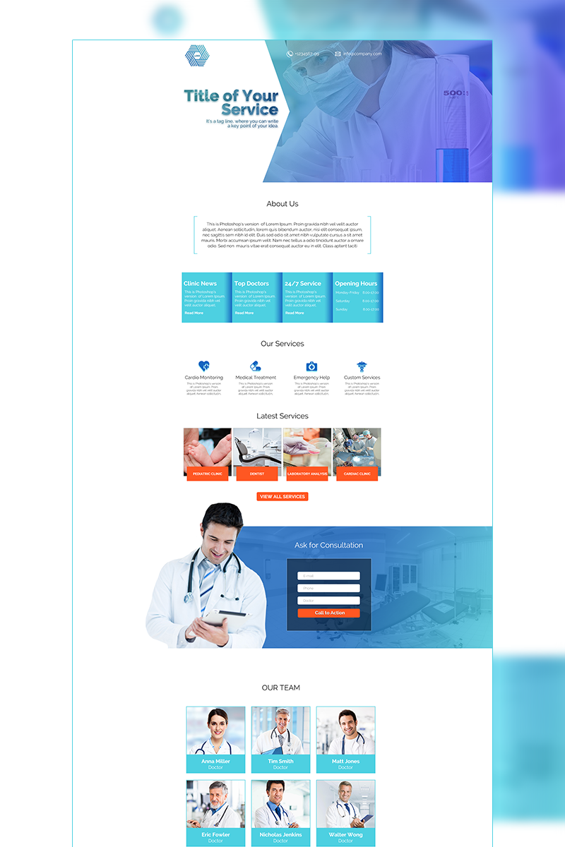 Medical Template Photoshop №66252
