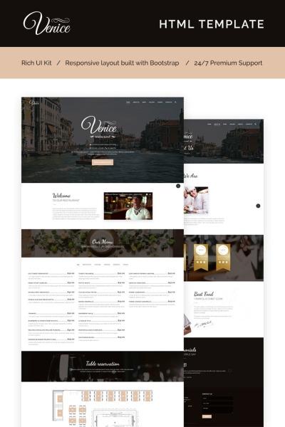Responsive Plantilla Web #66273 para Sitio de  para Sitio de Cafeterías y Restaurantes