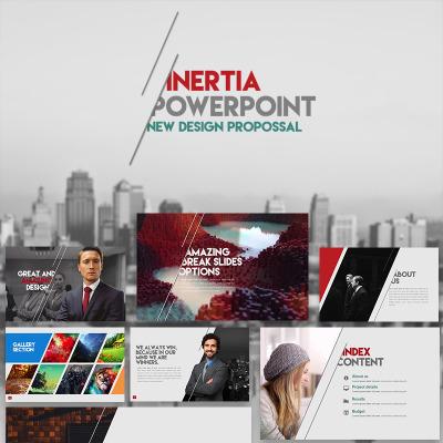 "PowerPoint шаблон ""Пример презентации с инфографикой"" #66255"