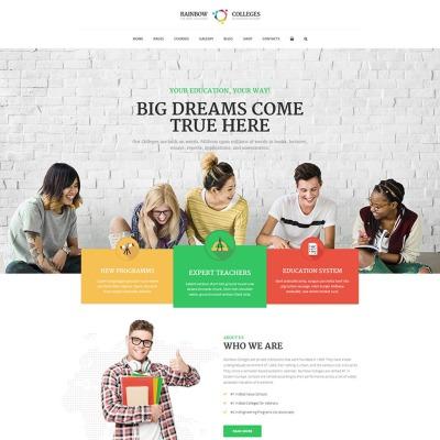 Bootstrap motyw WordPress #66265 na temat: szkoły wyższe i uniwersytety