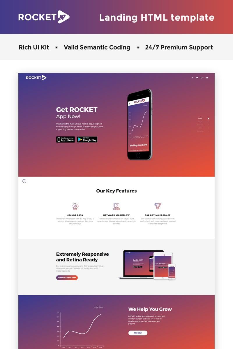 Responsivt ProApp - HTML5 Page Landing Page-mall #66268 - skärmbild