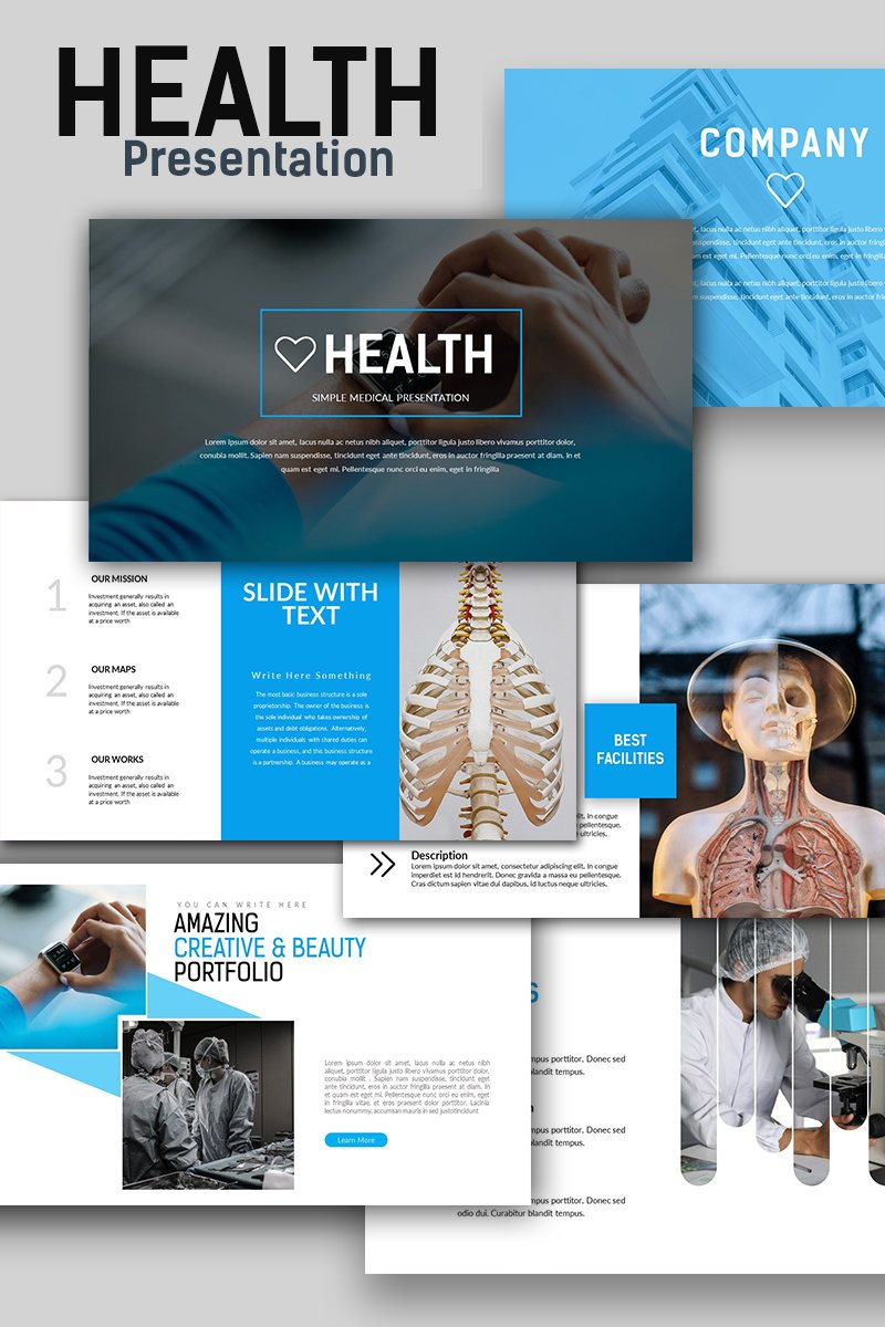 Szablon PowerPoint Health Medical #66295