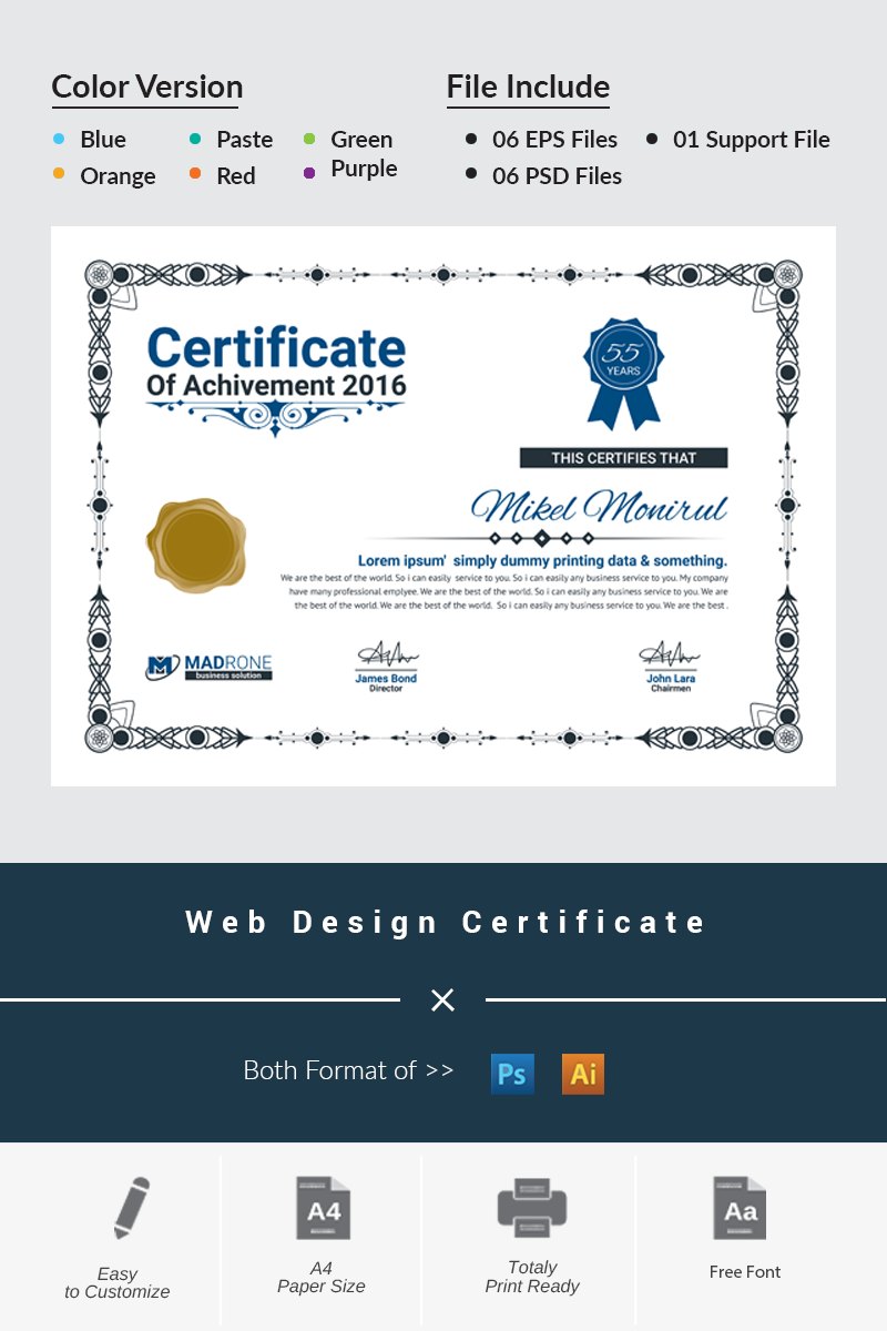 """Tema di certificato #66276 """"Web Design"""""""