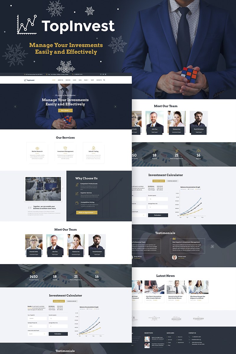 TopInvest - Investment Company WordPress Theme - screenshot