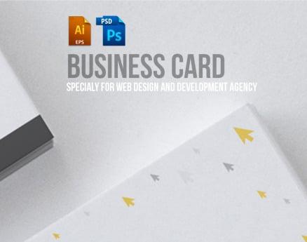 Business Card Design For Web Design And Developer PSD Template